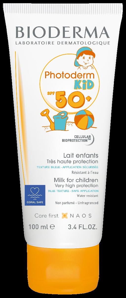 Lapte colorat protectie solara Photoderm Kid, SPF50+, 100ml, Bioderma drmax.ro