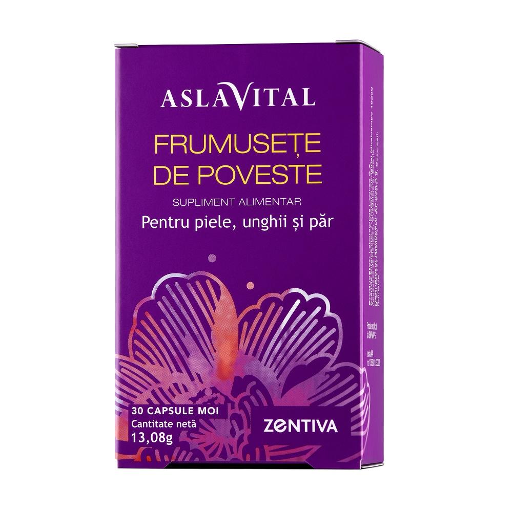Frumusete de poveste pentru piele, unghii si par, 30 capsule moi, Aslavital drmax.ro