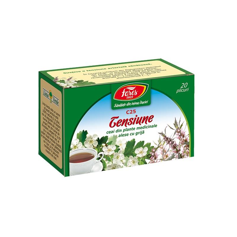 Ceai pentru tensiune, 20 plicuri, Fares drmax.ro