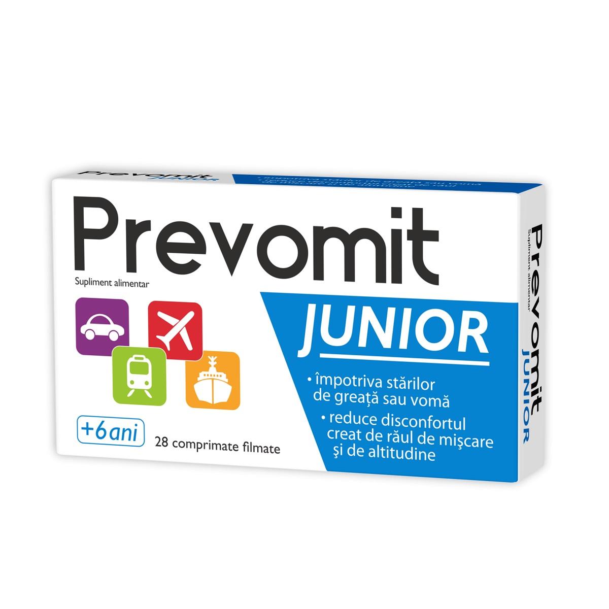 Prevomit Junior, 28 comprimate, Zdrovit drmax.ro