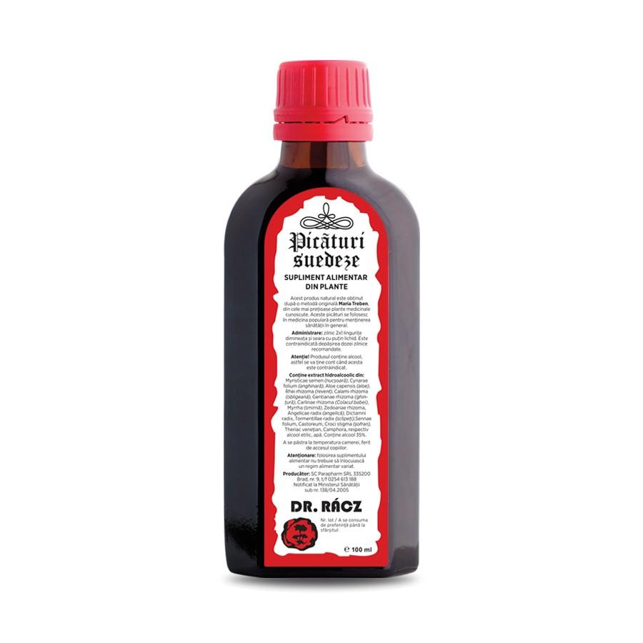 Picaturi Suedeze Dr Racz, 100 ml, Parapharm imagine produs 2021