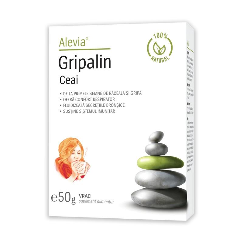 Ceai gripalin 100% natural, 50g, Alevia drmax.ro