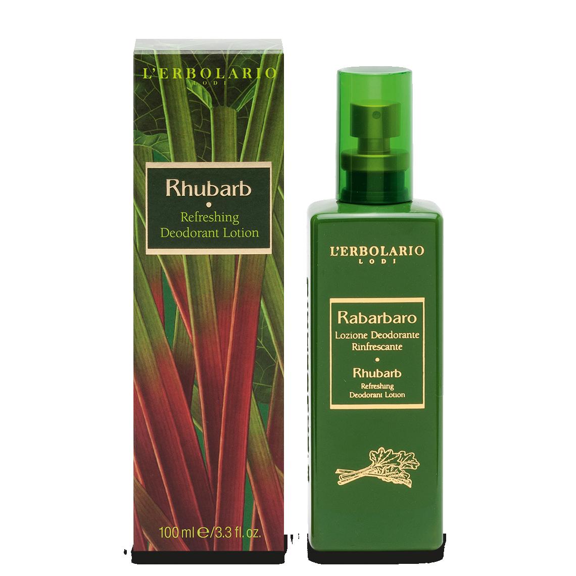 L'Erbolario, Deodorant-Lotiune Refresh Rhubarb, 100ml drmax.ro