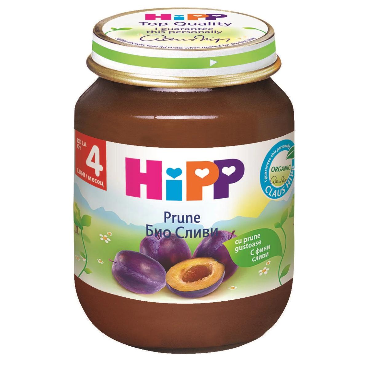 Piure de prune, +4 luni, 125 g, Hipp drmax.ro