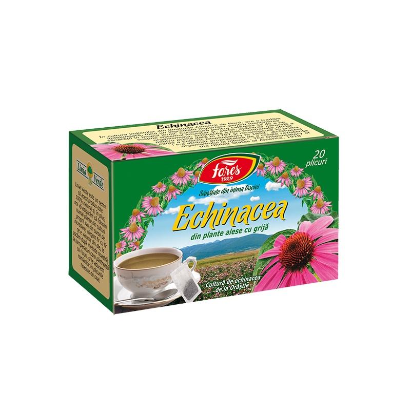 Ceai Echinacea, 20 plicuri, Fares drmax.ro