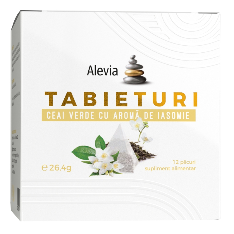 Ceai verde cu aroma de iasomie Tabieturi, 12 plicuri, Alevia drmax.ro