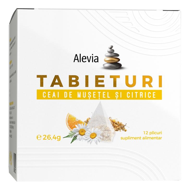 Ceai de muselel si citrice Tabieturi, 12 plicuri, Alevia imagine produs 2021