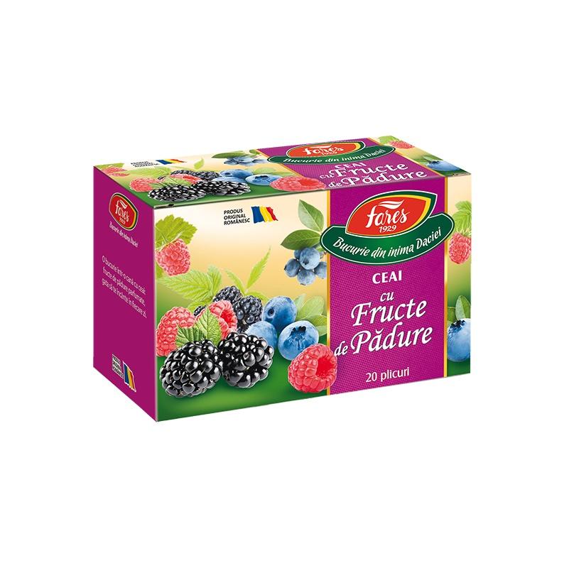Ceai Fructe de padure, 20 plicuri, Fares drmax.ro