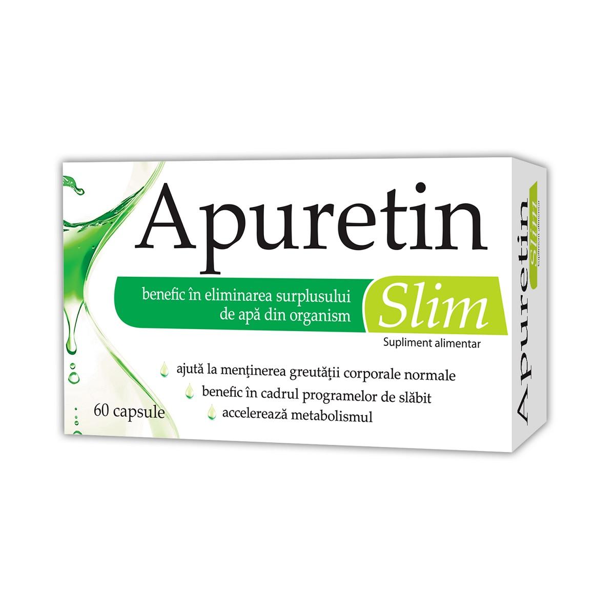 Apuretin Slim, 60 capsule, Zdrovit imagine produs 2021