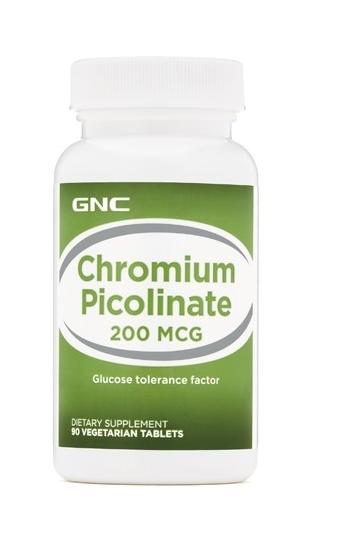Crom Picolinat 200mg, 90 capsule, GNC drmax poza