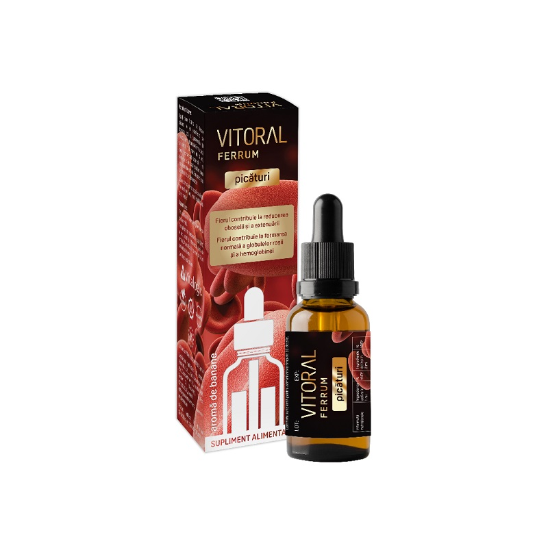 Vitoral Ferrum picaturi, 30ml, Vitalogic imagine produs 2021