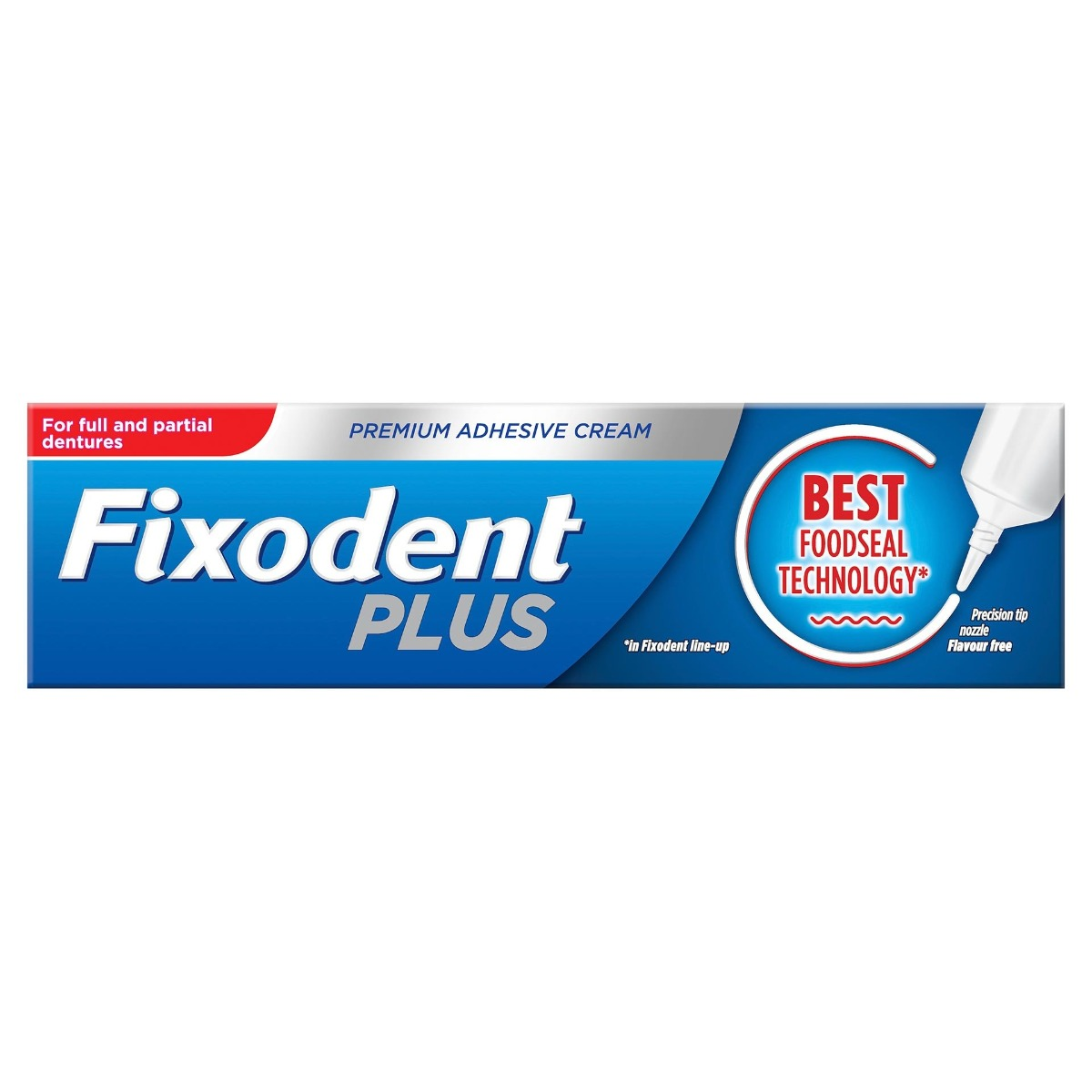 Crema adeziva pentru proteza dentara Plus Food Seal, 40g, Fixodent