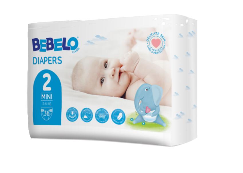 Bebelo Scutece mini nr. 2, 36 bucati imagine produs 2021