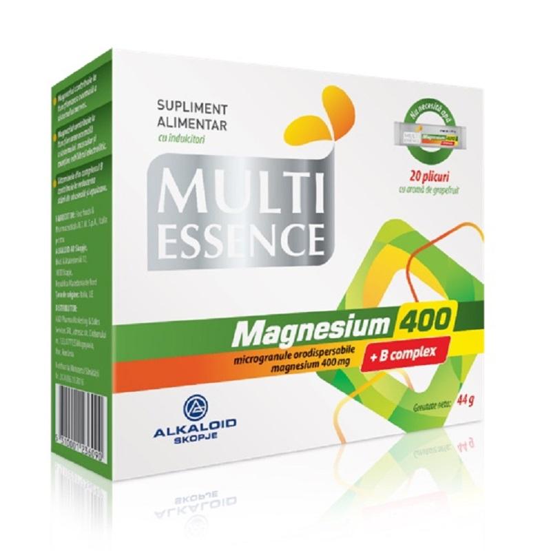Magneziu 400 si Complex B, 20 plicuri, Alkaloid imagine produs 2021
