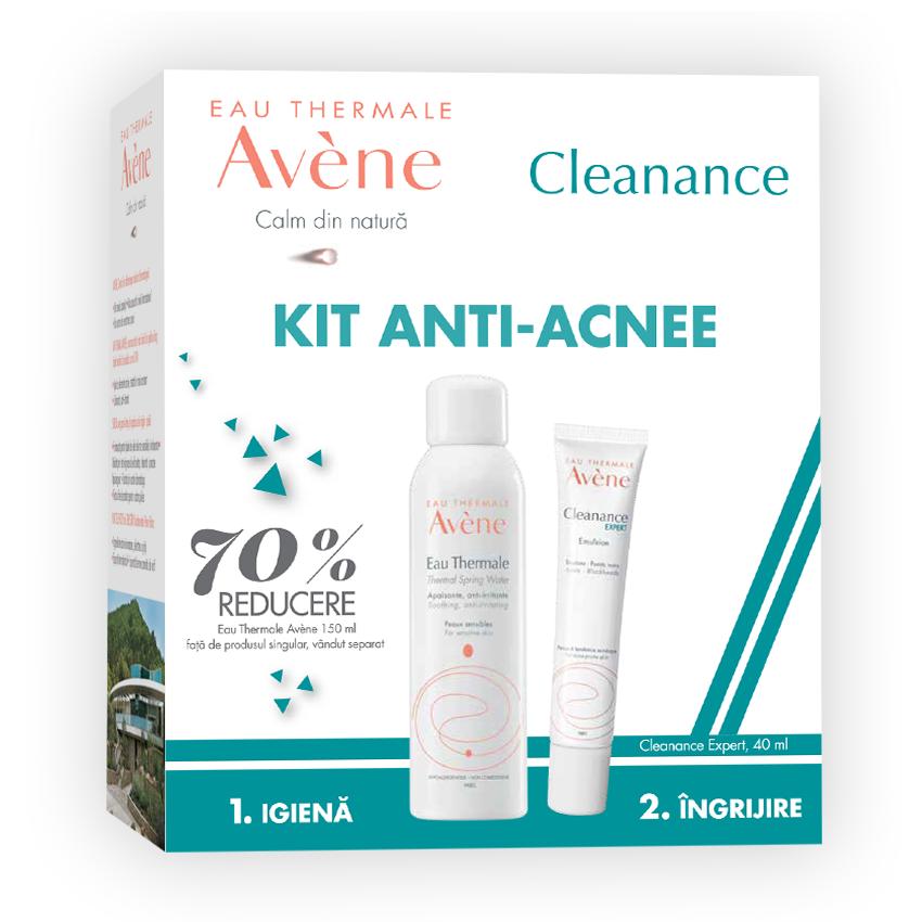 Pachet Cleanance Emulsie ten acneic 40ml + Apa termala 150ml cu 70% reducere, Avene