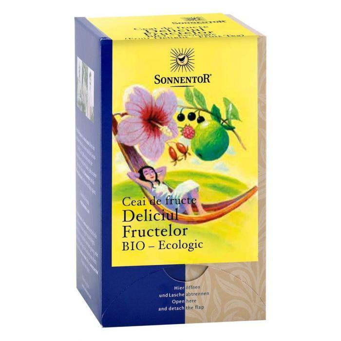 Ceai Bio Deliciul Fructelor, 18 plicuri, Sonnentor drmax.ro