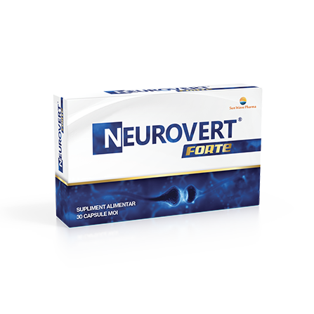 Neurovert Forte, 30 capsule, Sunwave imagine produs 2021