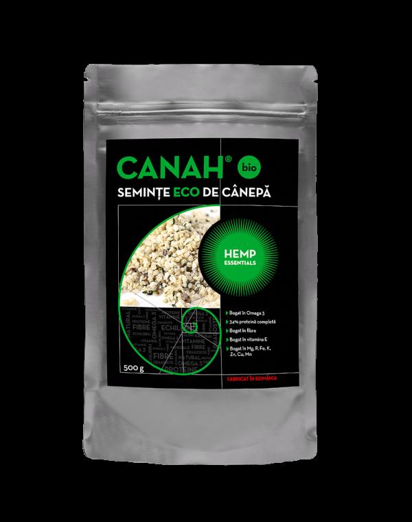 Seminte decorticate de canepa ECO, 500g Canah drmax poza