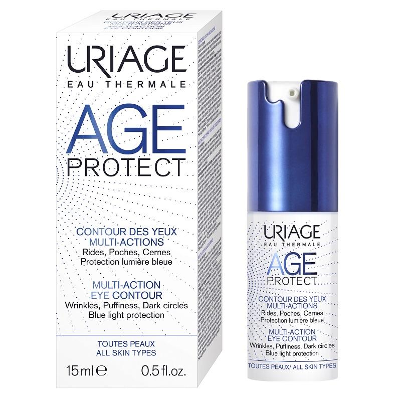 Crema anti-aging pentru conturul ochilor Age Protect, 15 ml, Uriage drmax.ro