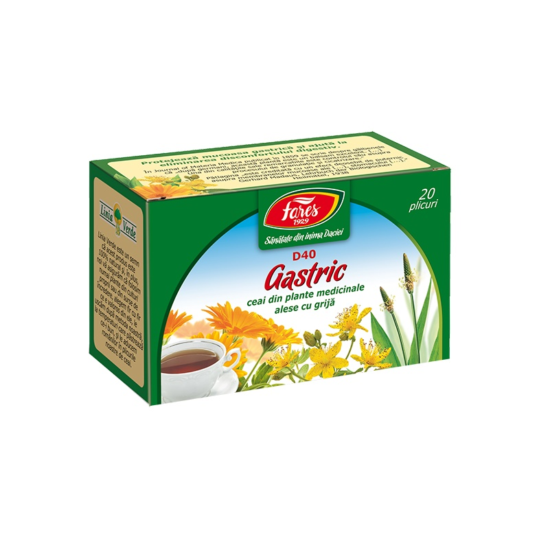 Ceai Gastric, 20 plicuri, Fares drmax.ro