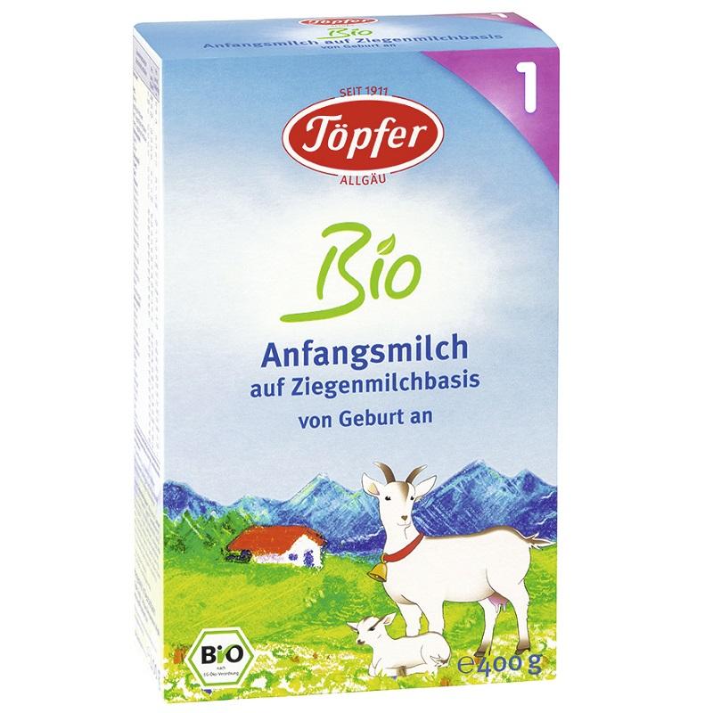 Lapte de capra Bio 1, 400g, Topfer