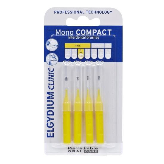 Periute interdentare Mono Compact Yellow, 4 bucati, Elgydium drmax.ro