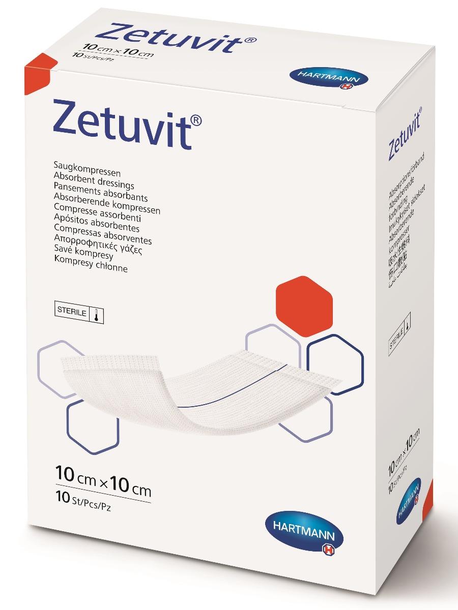 Comprese absorbante Zetuvit, 10x10 cm, 25 bucati, Hartmann