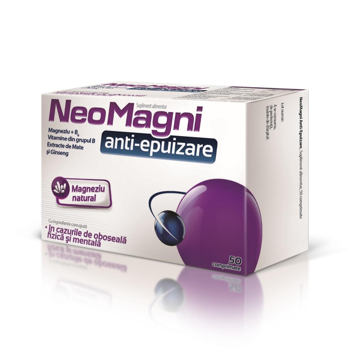 NeoMagni anti-epuizare, 50 comprimate, Aflofarm drmax poza