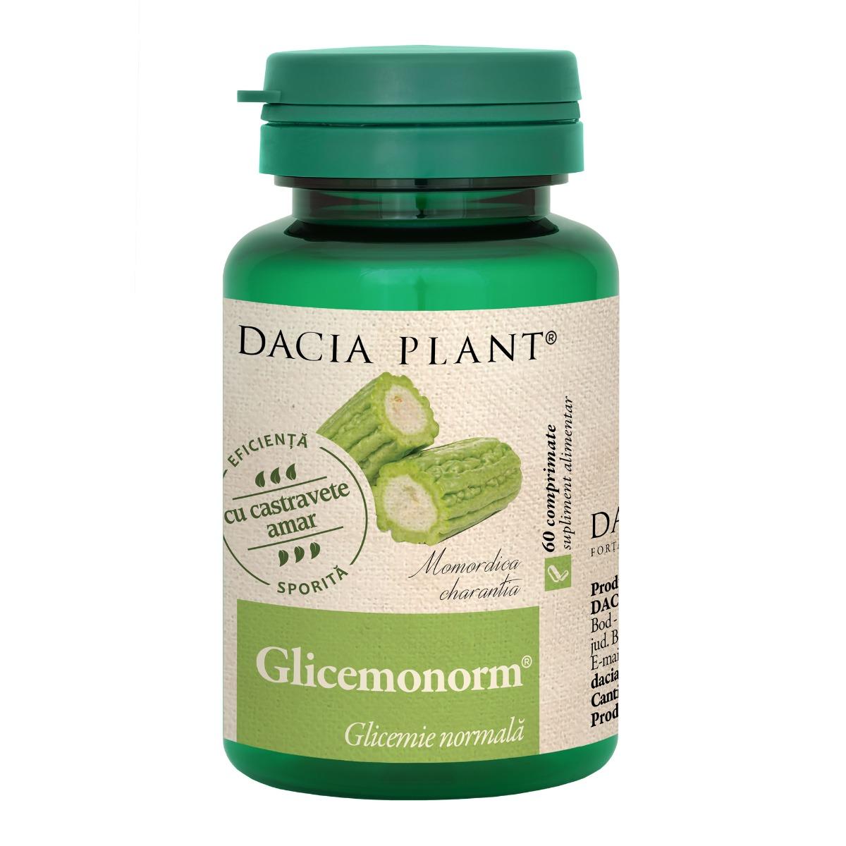 Glicemonorm, 60 comprimate, Dacia Plant drmax.ro