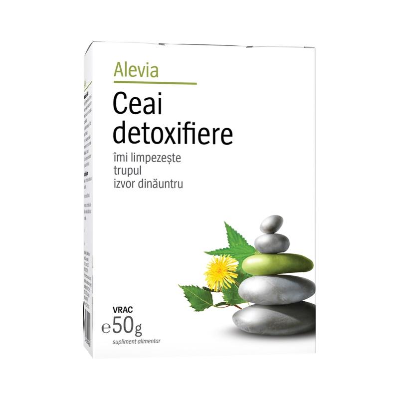 Ceai detoxifiere, 50g, Alevia drmax poza