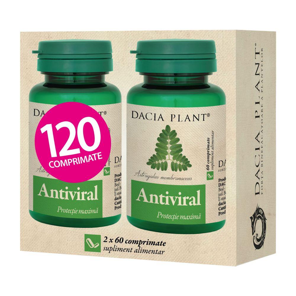 Antiviral Pachet 1+1 gratis , 60 comprimate, Dacia Plant drmax.ro