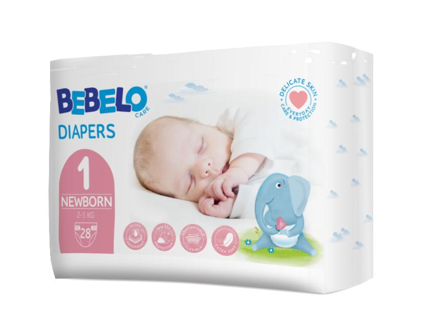 Bebelo Scutece pentru nou nascuti nr. 1, 28 bucati imagine produs 2021