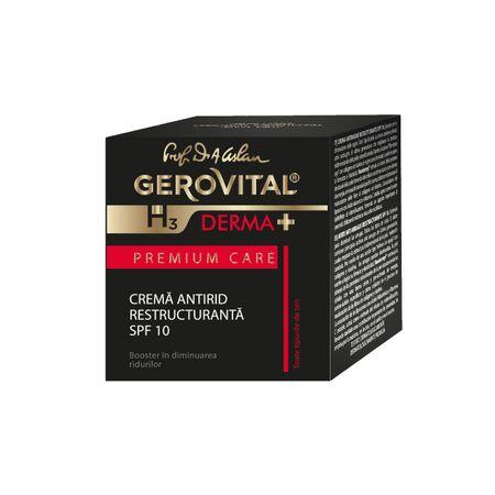 Crema antirid restructuranta SPF 10 GH3 Derma+ Premium Care, 50ml, Gerovital imagine produs 2021