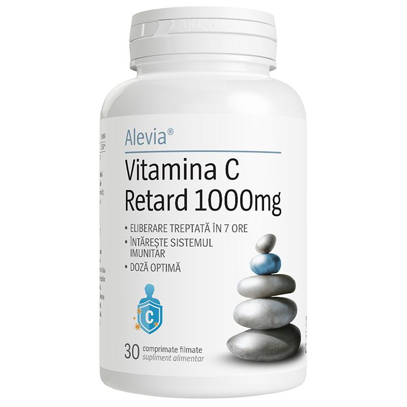 Vitamina C Retard 1000mg, 30 comprimate filmate, Alevia drmax.ro