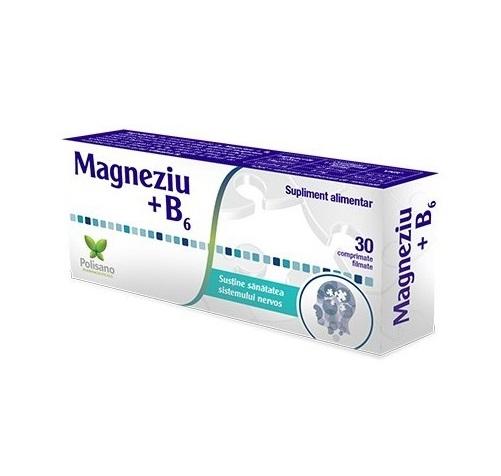 Magneziu + Vitamina B6, 30 comprimate, Polisano drmax.ro
