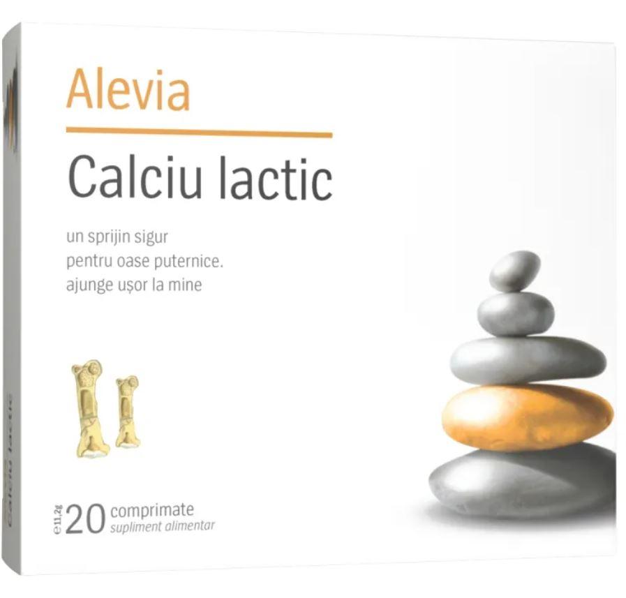 Calciu lactic, 20 comprimate masticabile, Alevia drmax.ro