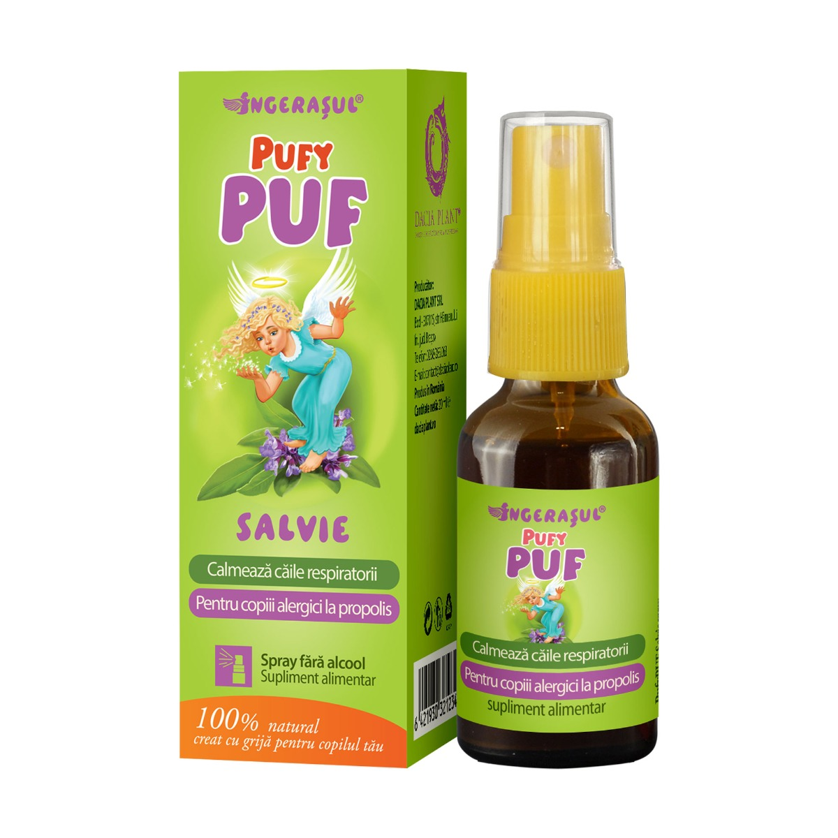 PufyPuf spray salvie, 20 ml, Dacia Plant drmax.ro