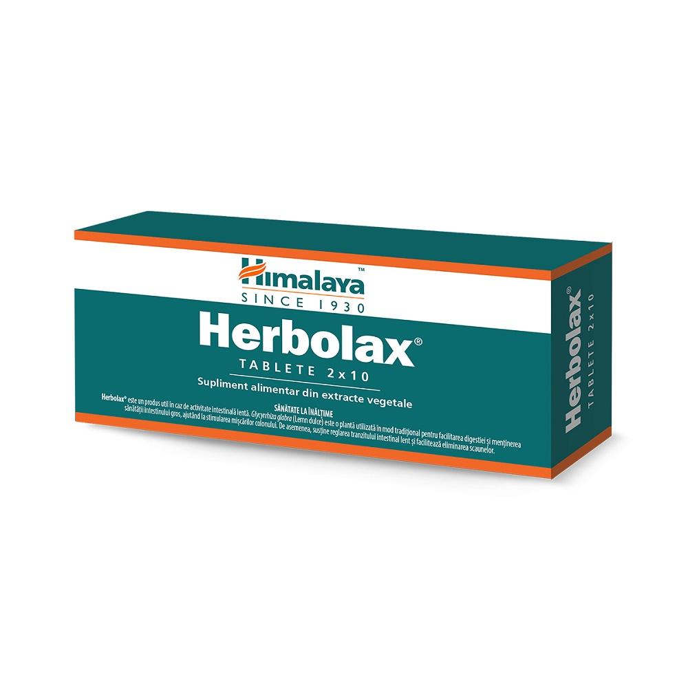 Herbolax, 20 tablete, Himalaya drmax.ro