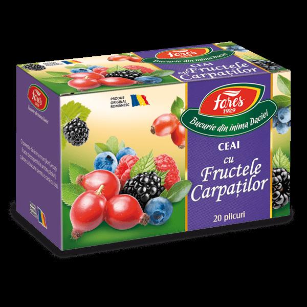Ceai Aromfruct Fructele Carpatilor, 20 plicuri, Fares drmax.ro