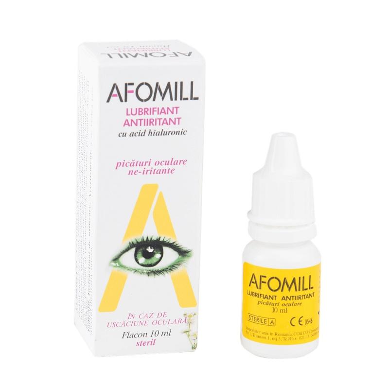 Picaturi oculare decongestionante, 10 ml, Afomill, drmax poza