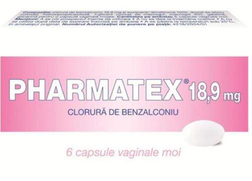 Pharmatex capsule vaginale 18,9mg, 6 capsule vaginale, Innotech drmax.ro