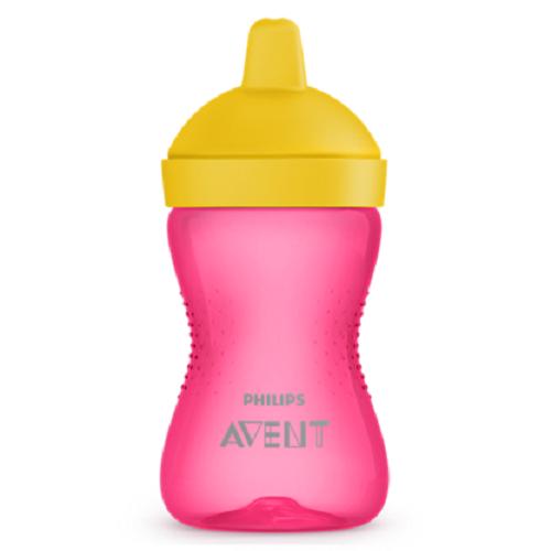 Cana cu tetina de formare roz/galben, 300ml, Philips Avent imagine produs 2021