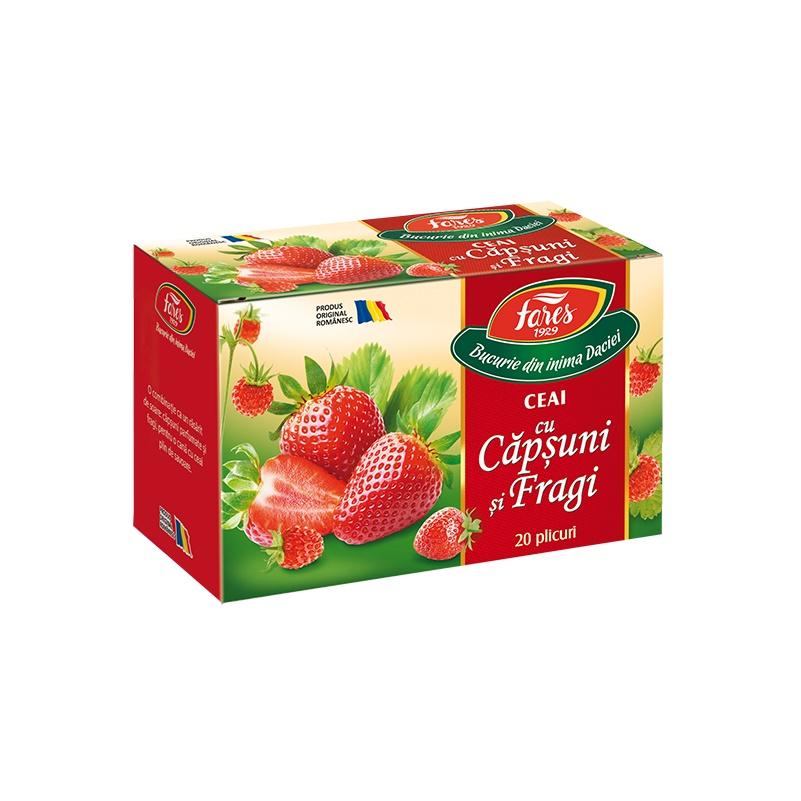 Ceai Capsuni si Fragi, 20 plicuri, Fares drmax.ro
