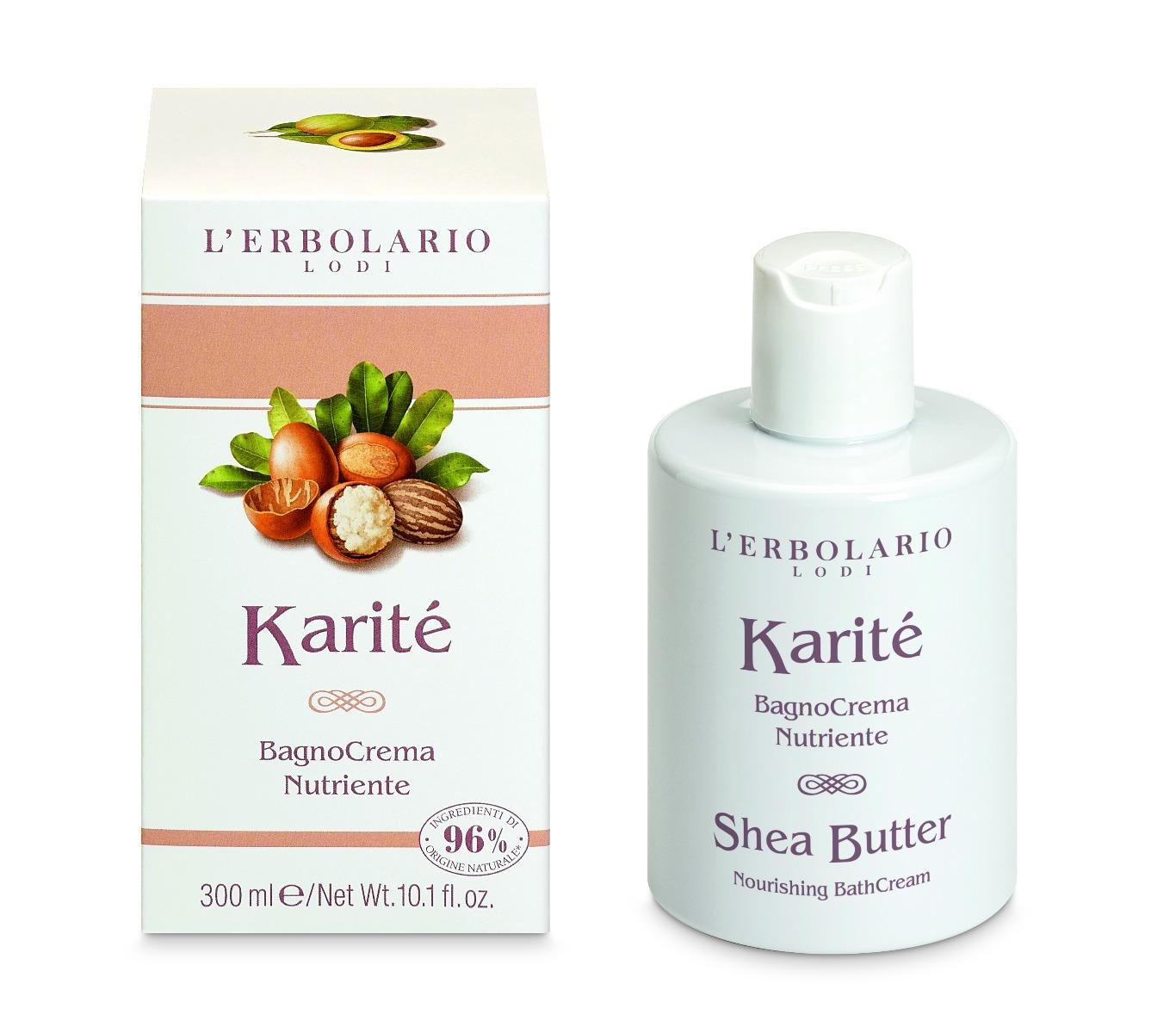 Crema de baie nutrivita Unt de Shea Karite, 300ml, L'Erbolario drmax poza