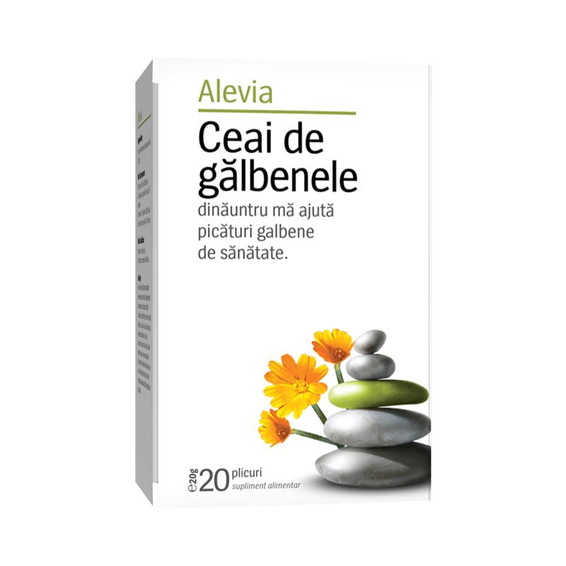 Ceai de galbenele, 20 plicuri, Alevia imagine produs 2021