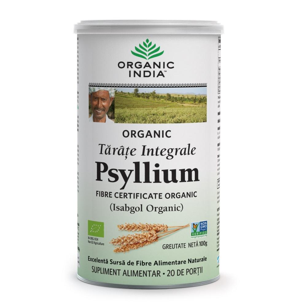 Tarate de Psyllium Integrale, 100g, Organic India drmax.ro