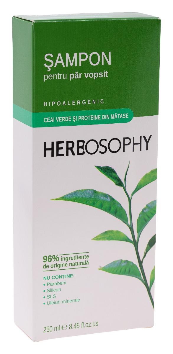 Herbosophy, Sampon cu extract de Ceai verde, 250ml imagine produs 2021