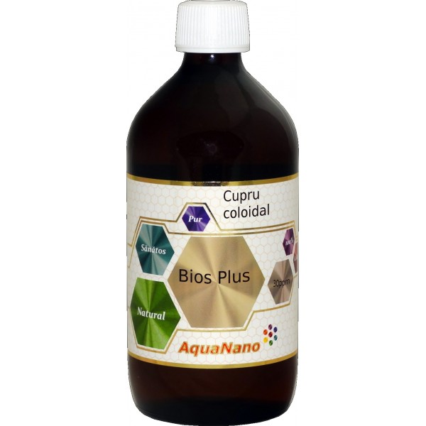 Cupru coloidal Bios Plus 30ppm, 480ml, Aghoras drmax poza