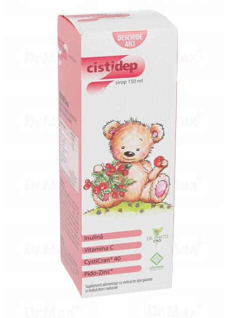 Cistidep Sirop, 150 ml, Dr. Phyto drmax.ro