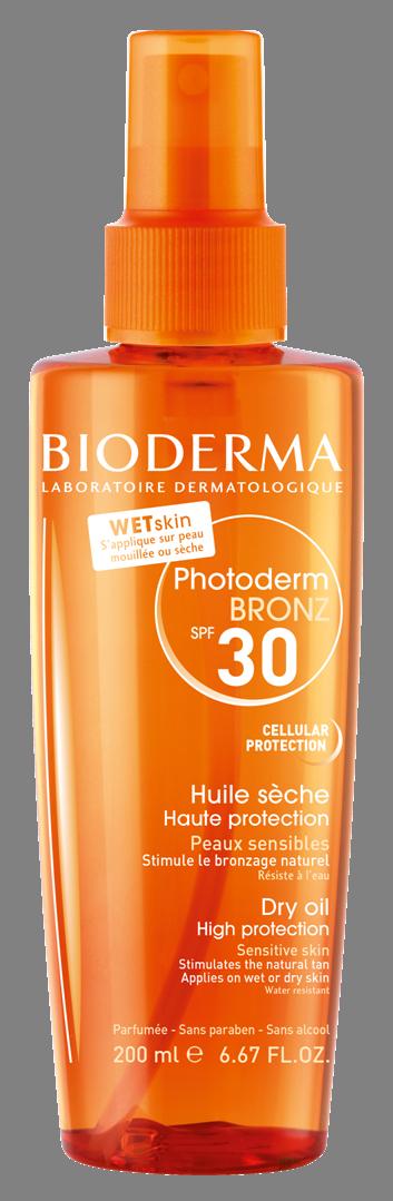 Ulei bronzant SPF 30 Photoderm Bronz, 200ml, Bioderma drmax.ro